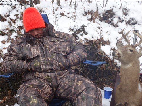 Sleeping not Deer Hunting
