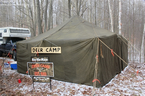 Deer Camp with a Military Surplus Wall Tent
