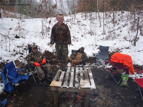 10 year old at Deer Camp