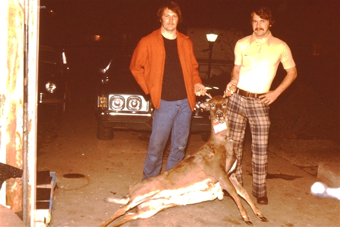 Larry Zizkovsky in a Vintage Deer Hunting Picture