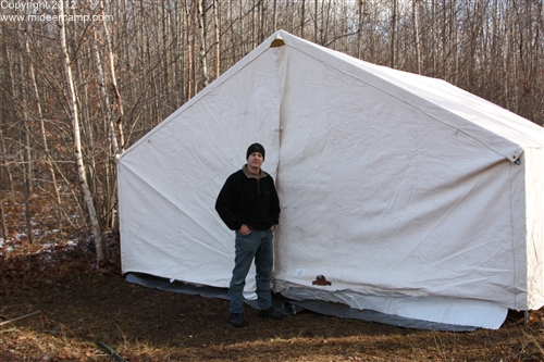 Dave in front of the tent, pic10