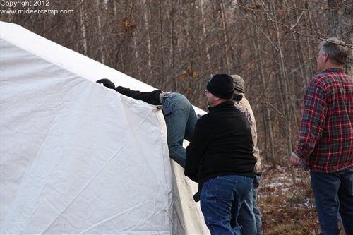 Dave putting up the chimney, pic39a