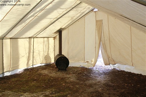 Wood Burner in the Big Horn Wall Tent