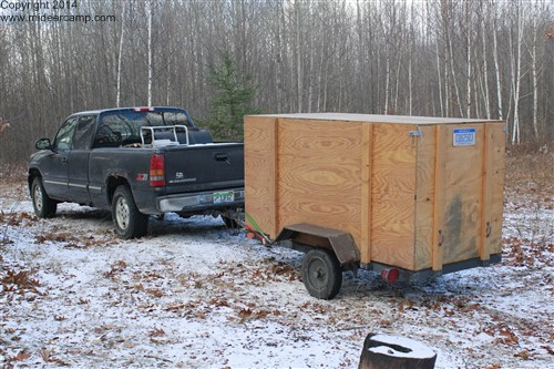 Dave's truck and trailer at Deer Camp