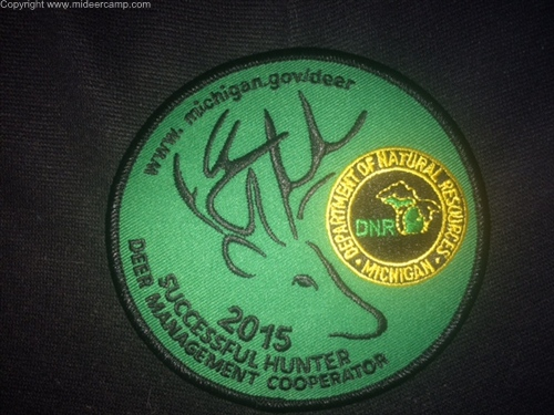 Michigan 2015 Successful Deer Hunter Patch