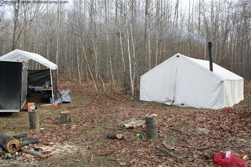 Wall Tent and Cook Tent