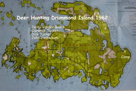 Map of Drummond Island 1962