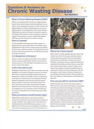 CWD Brochure FAQ from CWD Alliance
